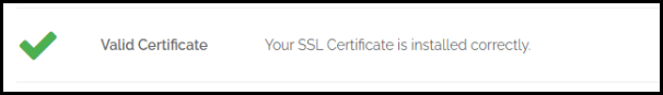 Certificate Installed Correctly Result