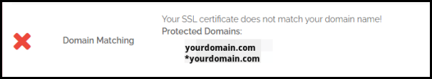 Domain Matching Result in Why No Padlock
