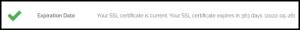 Why No Padlock SSL Expiration Date Result