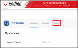 Php Options in cPanel