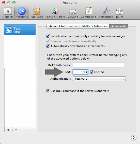 Email Set up: Mac Mail (SSL)