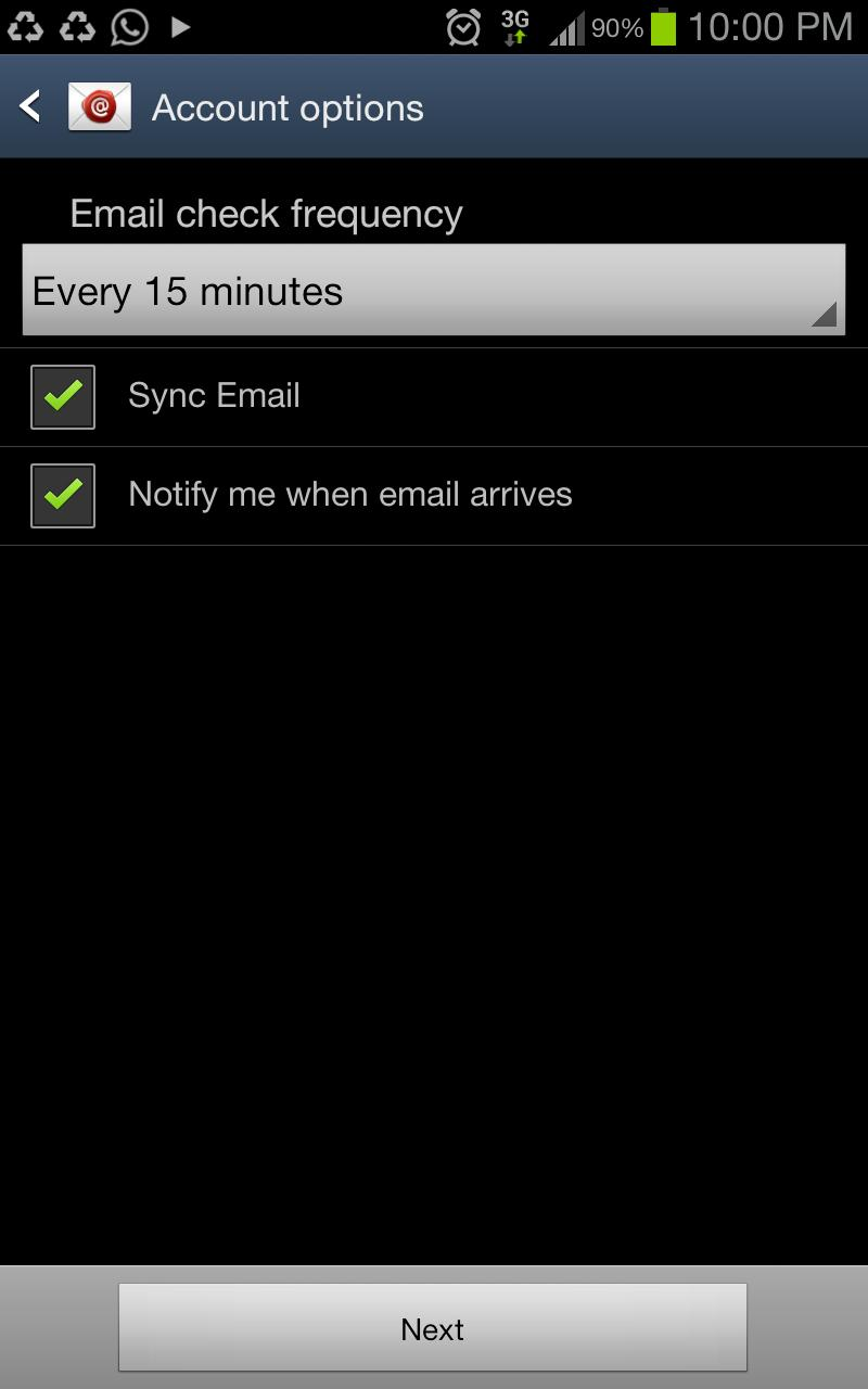How to setup my email account on Android
