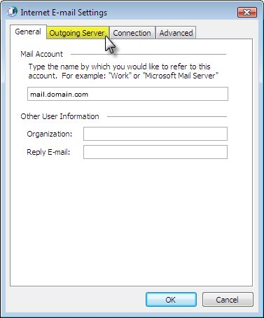 Set up email with Outlook 2003