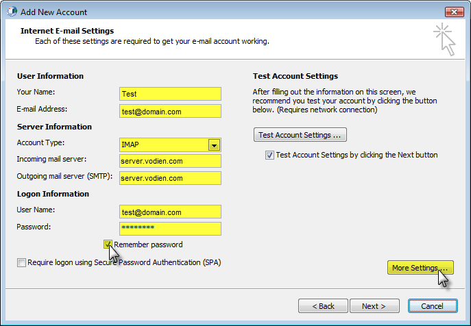 Email Set up : Outlook 2010 [SSL]