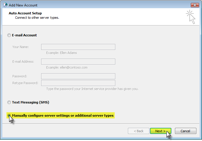 Set up email with Outlook 2010