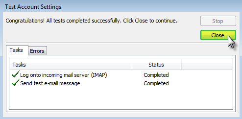 Email Set up : Outlook 2010