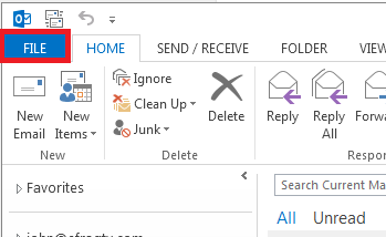 Email Set up : Outlook 2013 [SSL]