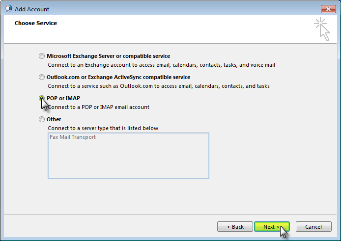 Email Set up : Outlook 2013 [Non-SSL]
