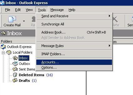 Email Set up : Outlook Express [SSL]