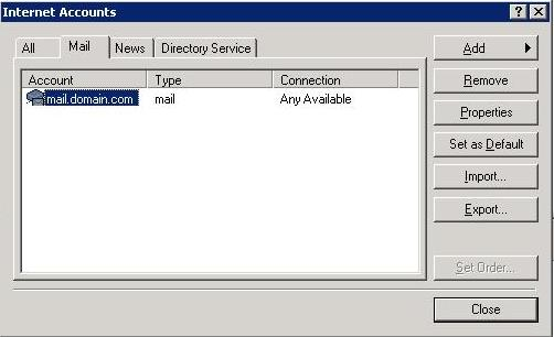 Set up email with Outlook Express