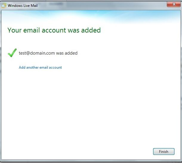 Email Setup with Windows Live Mail